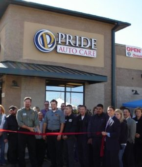 Pride Auto Care ribbon cutting at the Parker Colorado Auto Repair Garage