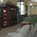 Parker CO service center lobby for with cable tv and wifi while you wait pride auto care