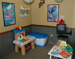 Parker CO service center play room for kids  pride auto care
