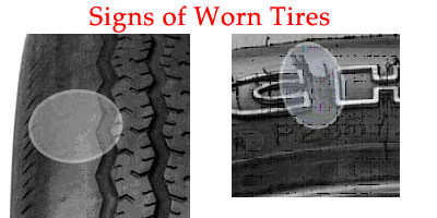 signs of tire wear michelin goodyear goodrich tires