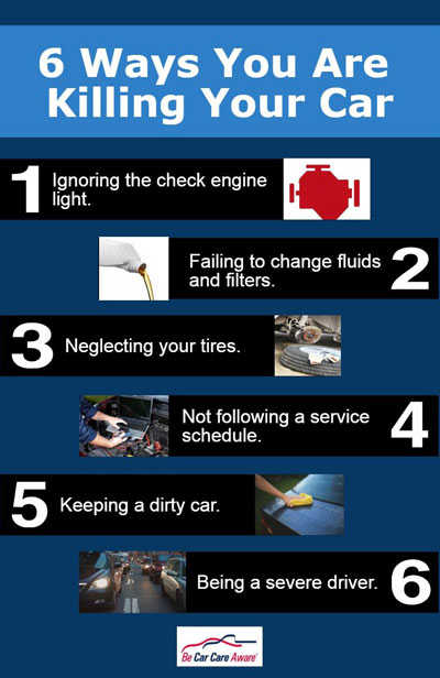 6 ways you are killing your car