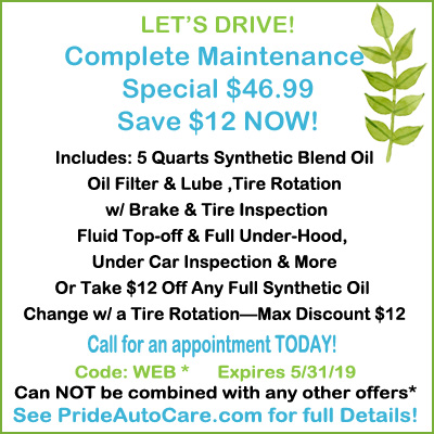 spring car maintenance special Denver