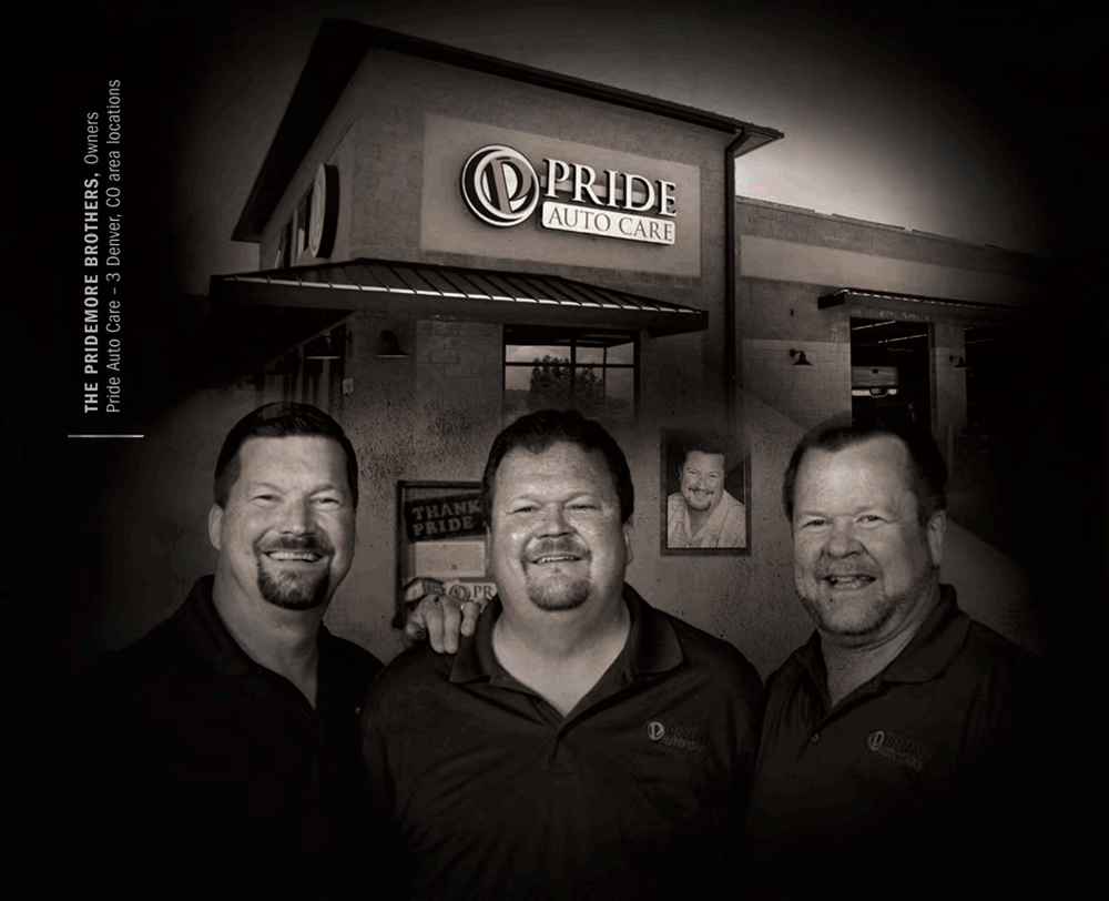 Pridemore brothers owners Pride Auto Care Denver Parker Centennial Highlands Ranch